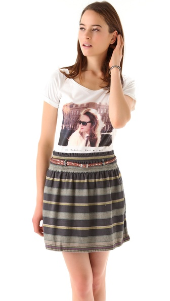 Maison Scotch Photoprint Tee