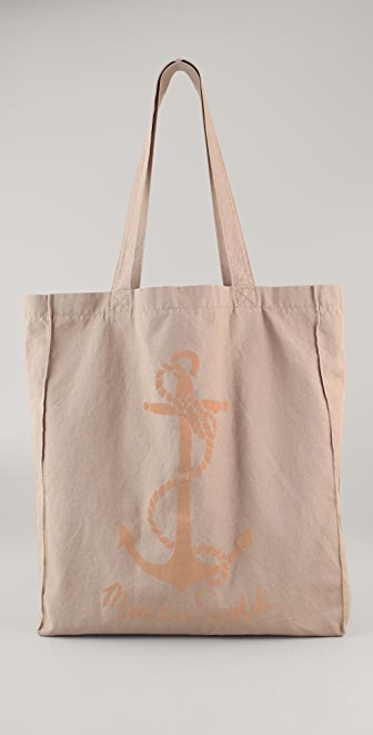 Maison Scotch Pink Anchor Canvas Shopper