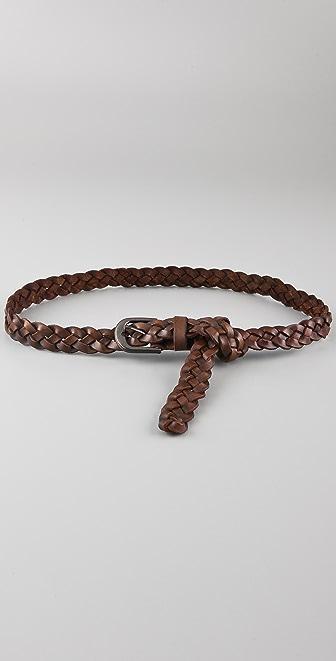 Maison Scotch Braided Leather Belt