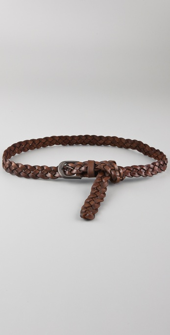 Maison Scotch Braided Leather Belt