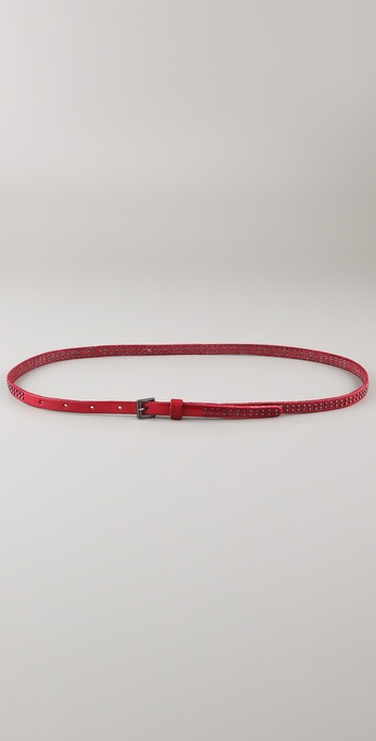 Maison Scotch Washed Leather Studded Belt