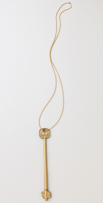 Maison Scotch Key-Pen Necklace