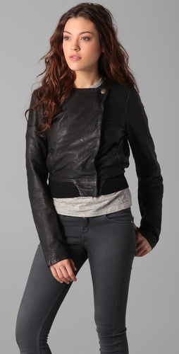 Maison Scotch Leather Jacket from shopbop.com