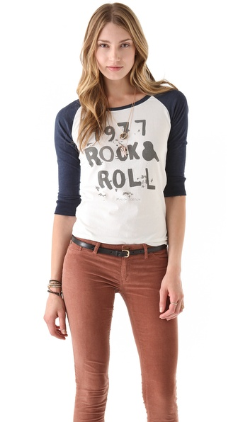 Maison Scotch Rock & Roll Baseball Tee