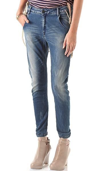 Maison Scotch Mademoiselle Suspender Jeans