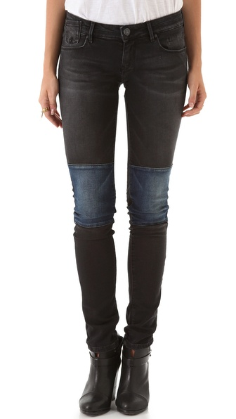 Maison Scotch La Parisienne Patchwork Skinny Jeans