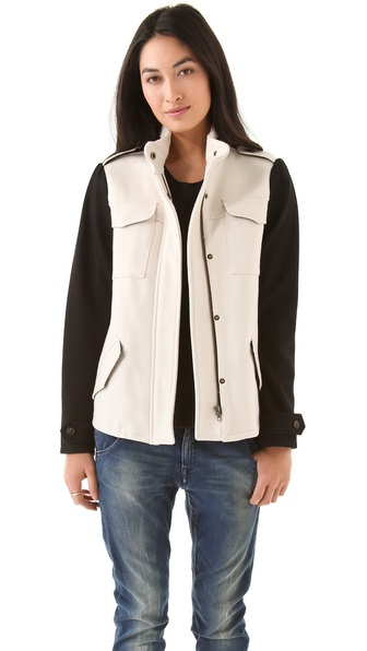 Maison Scotch Army Inspired Wool Jacket
