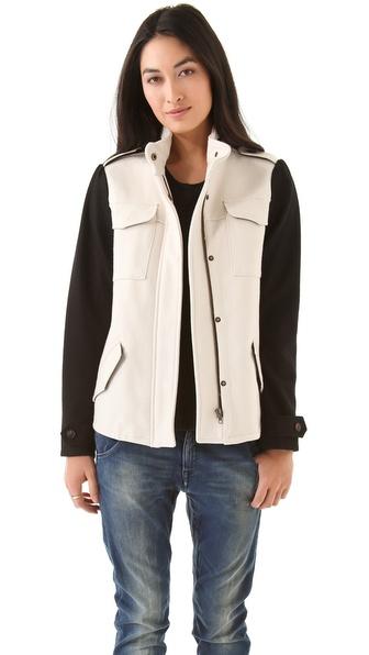 Maison Scotch Army Inspired Wool Jacket