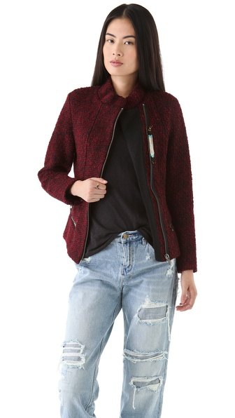 Maison Scotch Boucle Wool Short Jacket