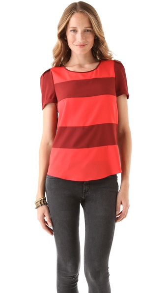 Maison Scotch Silky Feel Striped Top