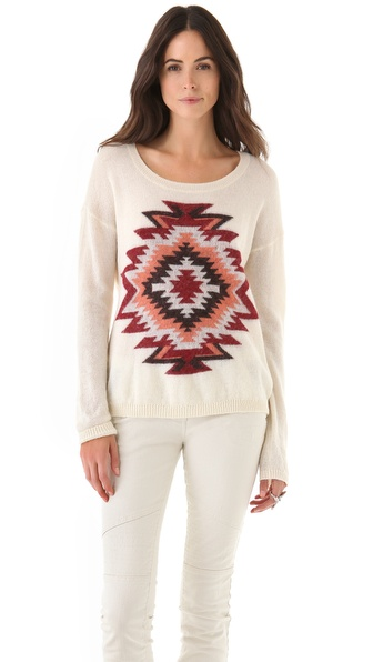 Maison Scotch Ikat Motif Sweater
