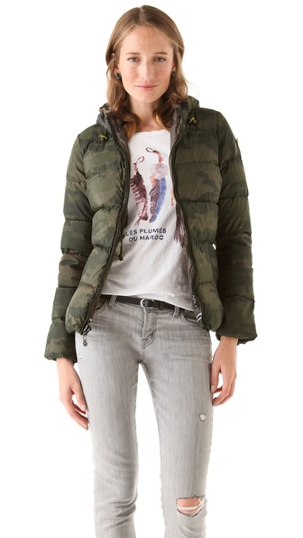 Maison Scotch Short Hooded Down Jacket