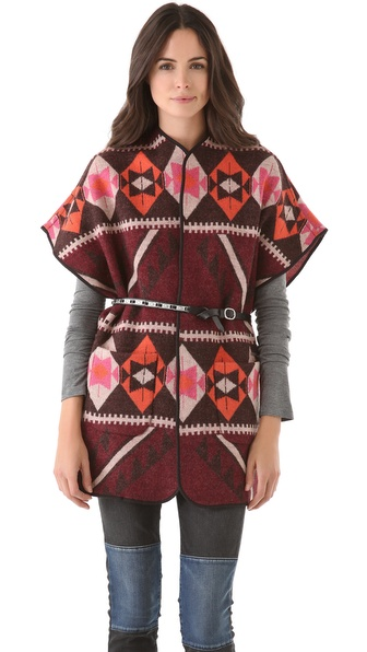 Maison Scotch Knit Poncho Vest