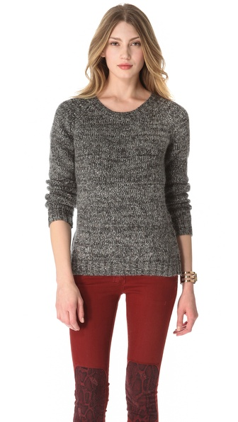 Maison Scotch Sequin Biker Sweater