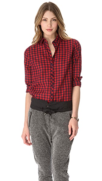 Maison Scotch Checked Western Shirt