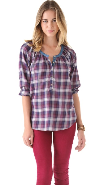 Maison Scotch Plaid Top