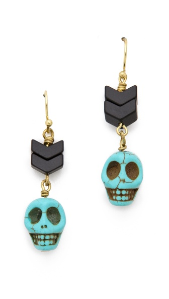 Maison Scotch Skull Beaded Earrings