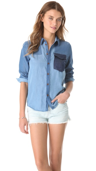 Maison Scotch Patchwork Shirt