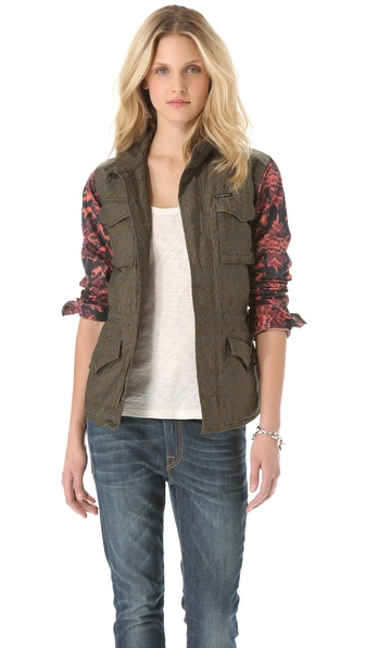Maison Scotch Lightweight Army Jacket