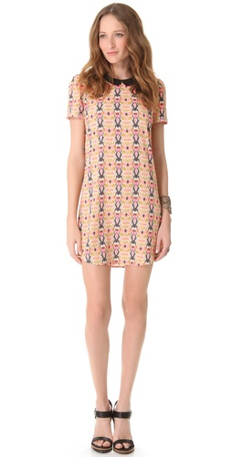 Maison Scotch Printed Dress with Puffed Sleeves