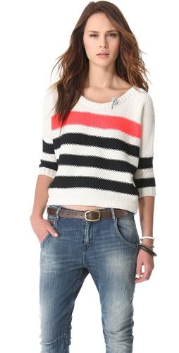 Maison Scotch Nautical Inspired Sweater