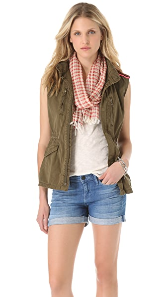 Maison Scotch Sleeveless Military Jacket