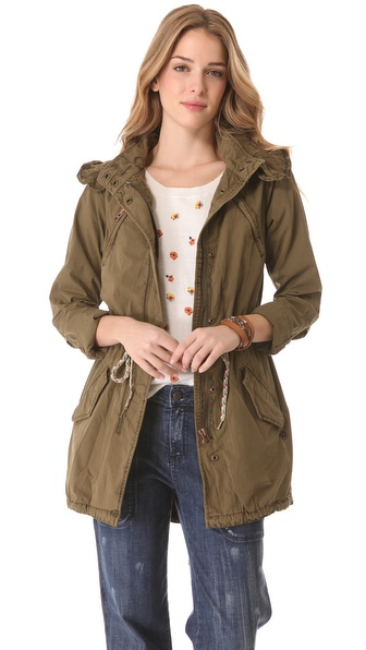 Maison Scotch Parka with Removable Lining