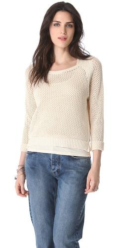 Maison Scotch Mesh Sweater with Tank Lining