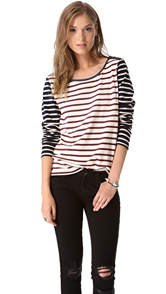 Maison Scotch Striped Pullover Tee