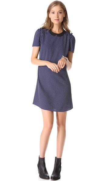 Maison Scotch Iconic Polka Dot Dress