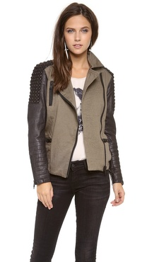Maison Scotch Military Meets Biker Jacket