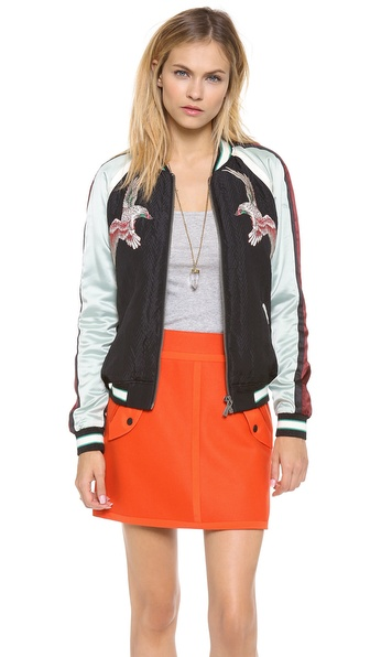 Maison Scotch Silky Baseball Jacket