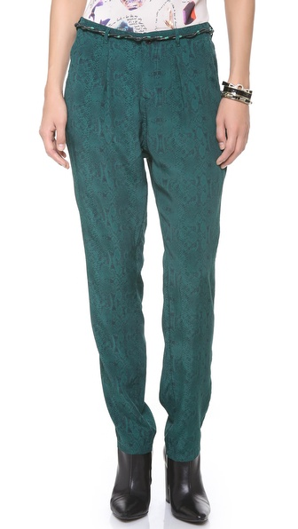 Maison Scotch Print Slouchy Pants