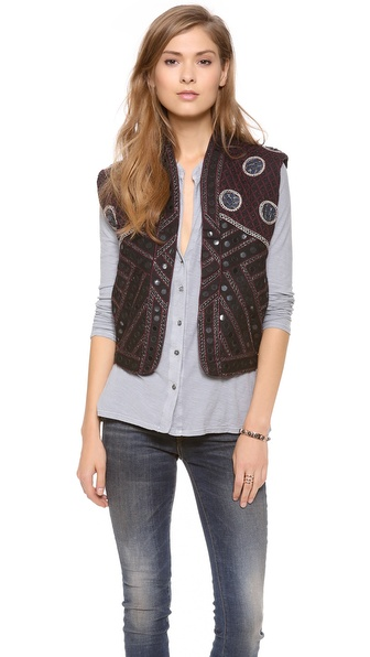 Maison Scotch Embellished Vest