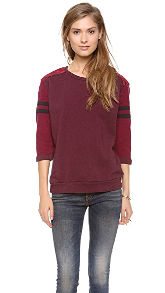 Maison Scotch 3/4 Sleeve Baseball Sweatshirt