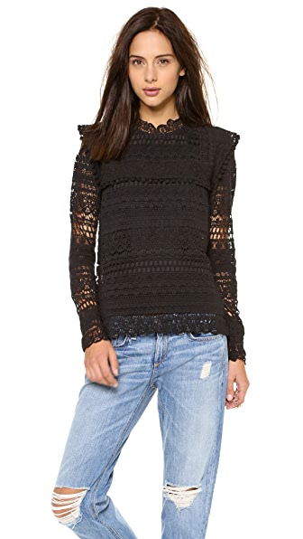 Maison Scotch Prairie Lace Top