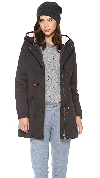 Maison Scotch Parka with Removable Inner Layer
