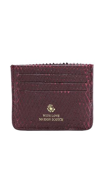 Maison Scotch Leather Card Holder