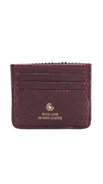 Maison Scotch Leather Card Holder