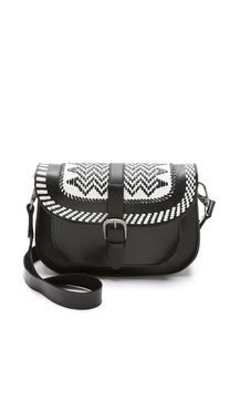 Maison Scotch Leather Cross Body Bag