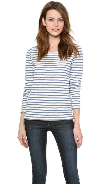 Maison Scotch Long Sleeve Stripe Top