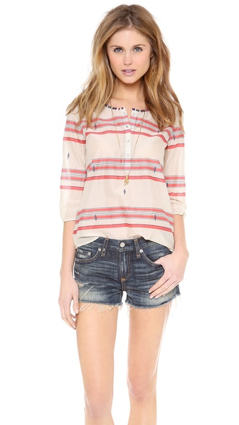 Maison Scotch Summer Tunic with Beaded Neckline