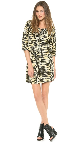 Maison Scotch Print Silky Dress