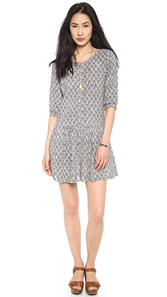 Maison Scotch Cool Batik Block Printed Dress