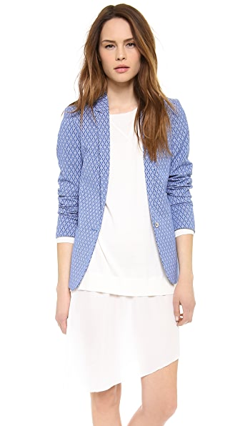 Maison Scotch Jacquard Stretch Blazer