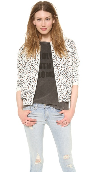 Maison Scotch Silky Feel Bomber