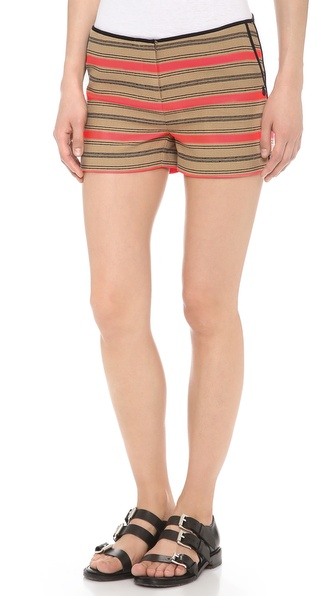 Maison Scotch Striped Raffia Summer Shorts