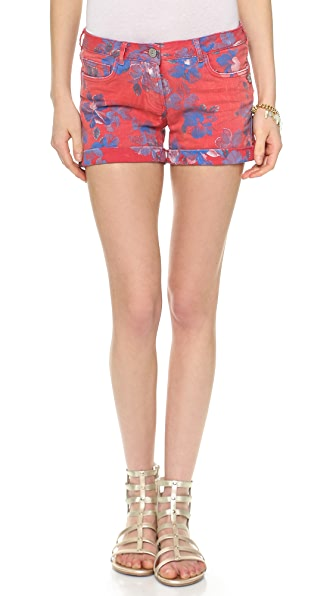 Maison Scotch Hawaii Printed Shorts