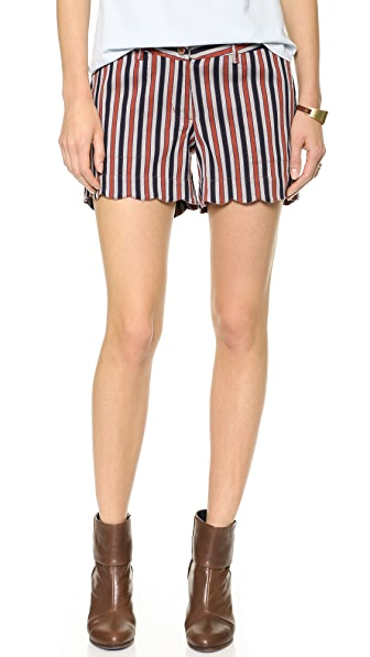 Maison Scotch Retro Striped Shorts