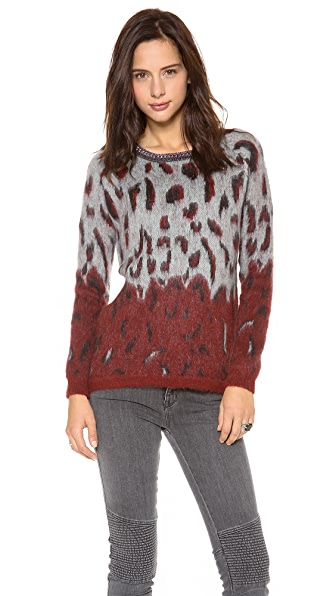 Maison Scotch Fuzzy Animal Sweater